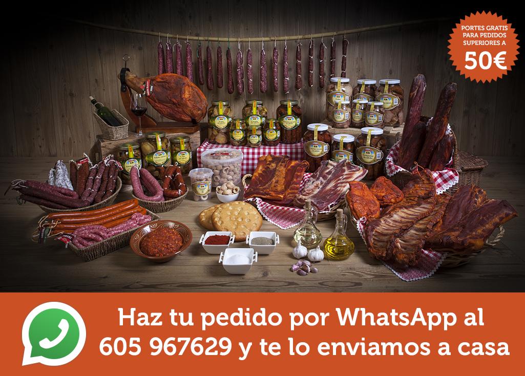 Haz tu pedido por WhatsApp al 605 967629 y te lo enviamos a casa