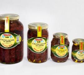 Chorizo curado adobo oliva